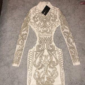 White Dynasty Studded Dress